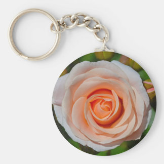 Single pink rose keychain