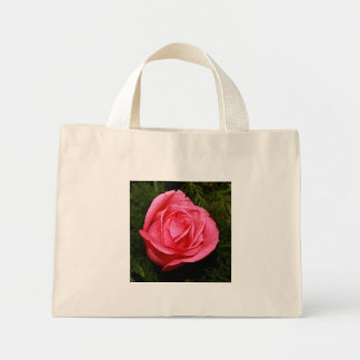 Single Pink Rose Mini Tote Bag