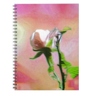 Single Pink Rose Notebook