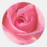 Single Pink Rose Round Sticker