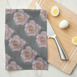 Single Pink Rose Towels