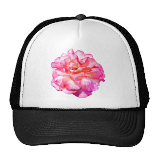 Single Pink Rose Trucker Hat
