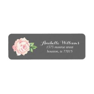 Single Pink Vintage Rose Label