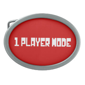 Single Player Mode Oval Belt Buckles