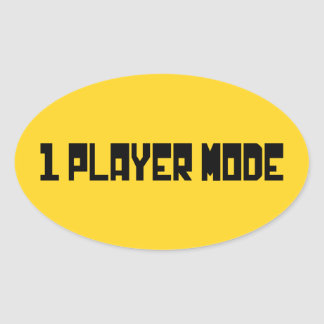 Single Player Mode Oval Stickers