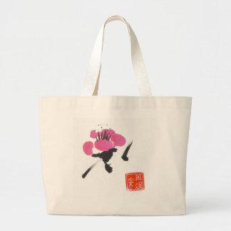 Single Plum Blossom Canvas Bag