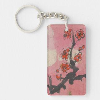 Single Plum Blossom Branch Keychain