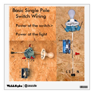 Single Pole Switch Wiring Decal Room Graphics