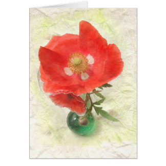 Single Poppy Card