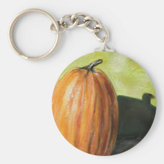 Single Pumpkin classic still life vegetable oil Keychains