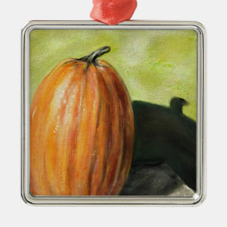 Single Pumpkin classic still life vegetable oil Christmas Tree Ornaments