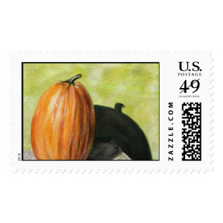 Single Pumpkin classic still life vegetable oil Postage