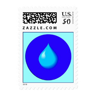 Single Raindrop Teardrop Travel Stamps Stamp