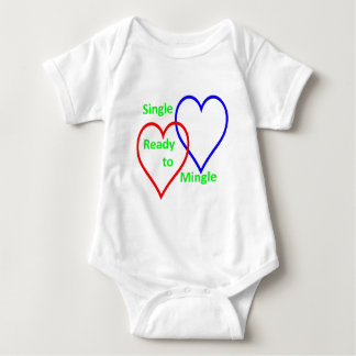 Single ready to mingle color baby bodysuit