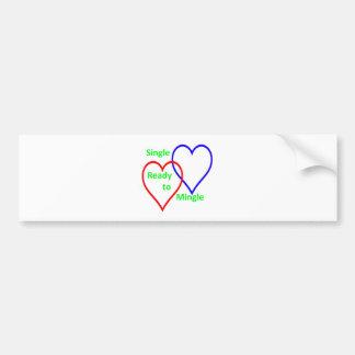 Single ready to mingle color bumper sticker