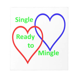 Single ready to mingle color memo notepads