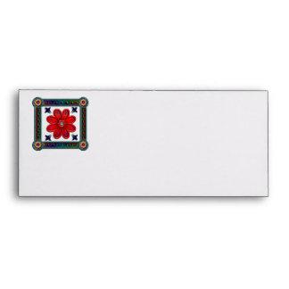 Single red flower in box envelope