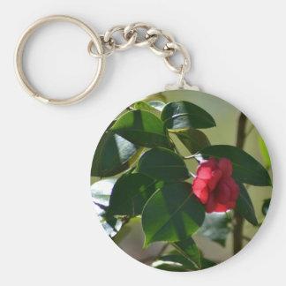Single Red Flower Keychain