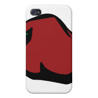 Single Red Habanero Graphic Covers For iPhone 4