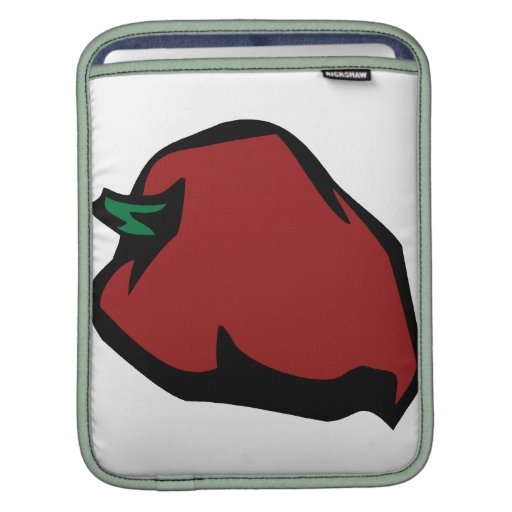 Single Red Habanero Graphic iPad Sleeves