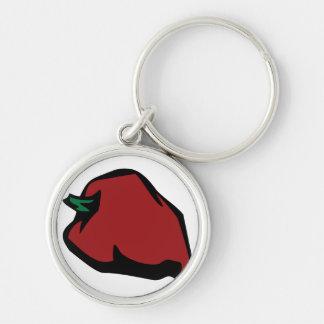 Single Red Habanero Graphic Key Chain