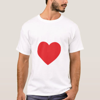 Single Red Heart Adult Tee Shirt