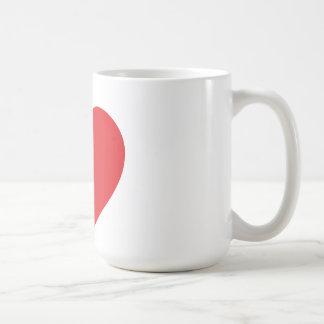 Single Red Heart Mug