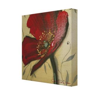 Single Red Poppy by Cherie Roe Dirksen Canvas Print