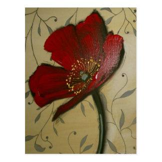Single Red Poppy Postcard