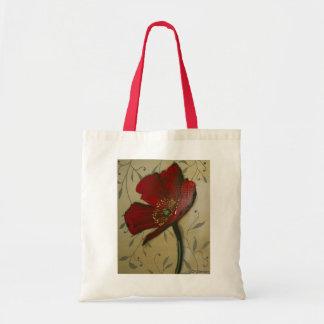 Single Red Poppy Tote Bag