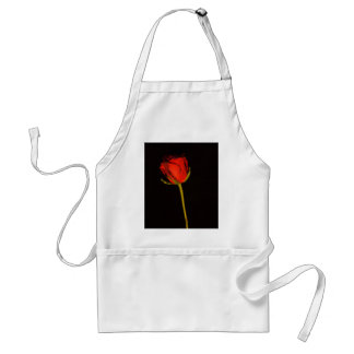 Single Red Rose Adult Apron