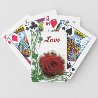Single Red Rose Bicycle Playing Cards
