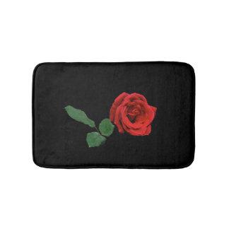 Single Red Rose Flower Bath Mats