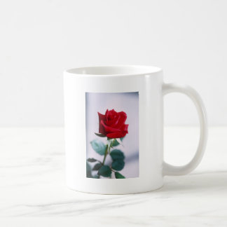 Single Red Rose Flower Coffee Mug