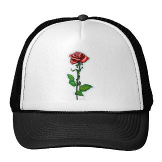 Single Red Rose Hats