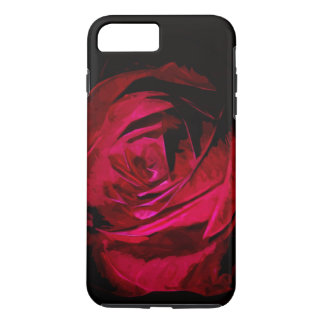 Single Red Rose In Darkness Abstract Impressionism iPhone 7 Plus Case