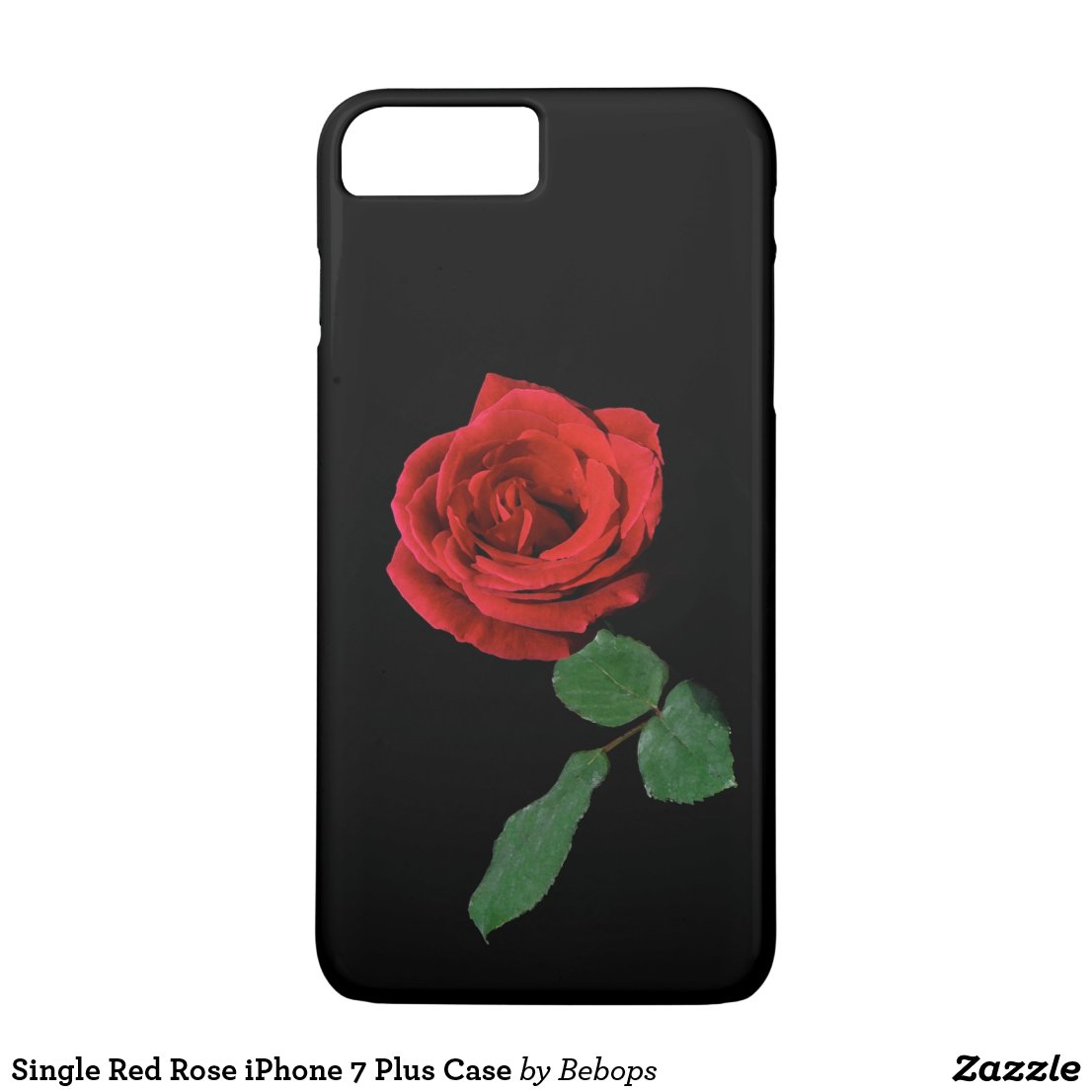 Single Red Rose iPhone 7 Plus Case