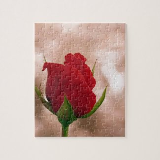 Single Red Rose Jigsaw Puzzle