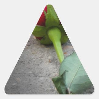 single red rose.jpg triangle sticker