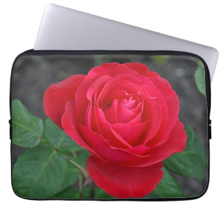 Single red rose laptop sleeve