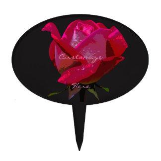 single red rose Thunder_Cove Cake Topper