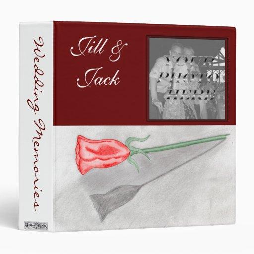 Single Red Rose (Wedding Album) Binder