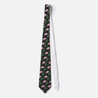 Single red streaked white flower Camellia japonica Tie