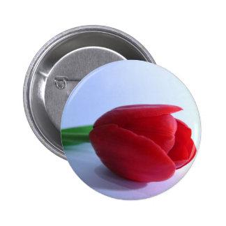 Single Red Tulip Pin