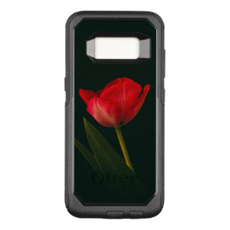 Single Red Tulip OtterBox Commuter Samsung Galaxy S8 Case