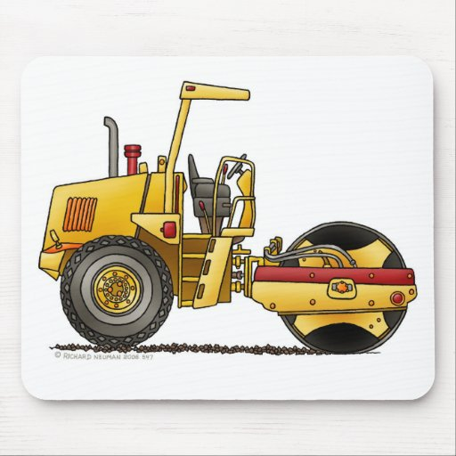 Single Roller Compactor Construction Mouse Pad