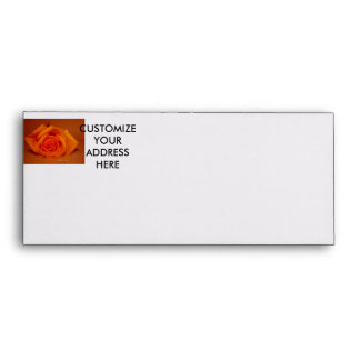 Single Rose Colorized Orange Envelope