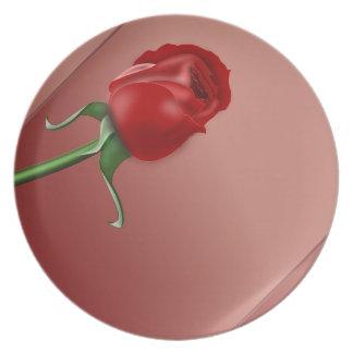 Single Rose Dinner Plate