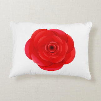 Single Rose flower on Polyester Accent Pillow