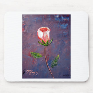 Single Rose Mouse Pad